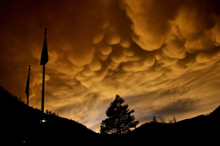 Mammatus clouds over Olympic Valley, CA