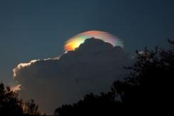 A Pileus Iridescent Cloud Over Ethiopia
