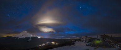Mt. Hood and a Lenticular Cloud