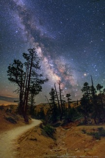 Milky Way over Queen's Garden trail in Bryce Canyon