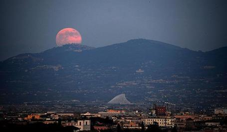 Supermoon over Rome