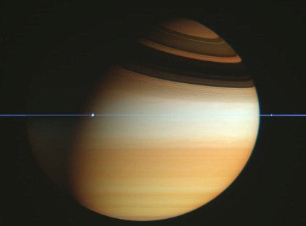 "Saturn's rings ""disappear"" as Cassini crosses the ring plane"