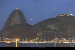 Lunar eclipse and Mars over Rio