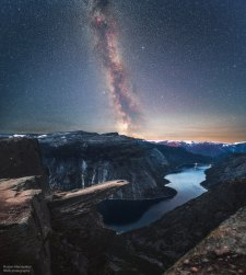 Milky Way over Troll's Tongue
